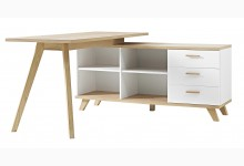 Schreibtisch Mod.GM695 Weiss - San Remo Eiche
