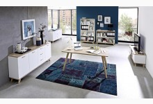 6tlg. Arbeits- & Bürozimmer Mod.GM707 Weiss - San Remo Eiche