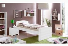 Einzelbett 90x200 Mod.857569 Kiefer Weiss