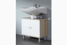 Waschbeckenunterschrank Mod.W035_ESW Eiche-Sägerauh Weiss