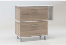 Schuhschrank Mod.W045 Sonoma-Eiche-Weiss