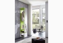 Garderobe mit Spiegel Mod.GM747 Weiss - Grün