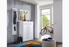 3tlg. Garderobenprogramm Mod.GM753 Weiss Hochglanz