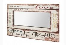 Wandgarderobe / Wandspiegel Mod. 89941 Vintage - Weiss