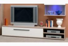 TV Lowboard Mod.TV660 Sonoma Eiche Weiss Hochglanz