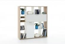 Bücherregal - Raumteiler Mod.R489 Eiche Weiss