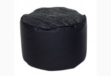Kleiner Sitzsack Pouf Lotos-Minadra Mod. 1103301 Schwarz