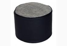 Kleiner Sitzsack Pouf Lotos-Minadra Mod. 1103315 Schwarz - Grau