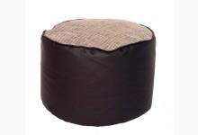 Kleiner Sitzsack Pouf Lotos-Minadra Mod. 1103335 Braun - Beige