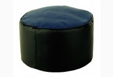 Kleiner Sitzsack Pouf Lotos-Genua Mod. 1104203 Schwarz - Blau