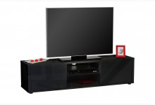 TV Lowboard Mod.TV663_S Schwarz Hochglanz