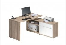 Schreibtisch Mod.MJ067 Edelbuche - Weiß Hochglanz