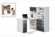 MINIOFFICE Mod.MJ089 Icy-Weiß - Grau Hochglanz