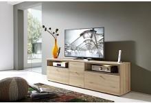 TV-Hifi Ablage / Lowboard mit LED-Beleuchtung Mod.GM841 Edelbuche