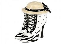 Schmuckdose - Dose Motiv Schuh mit Hut