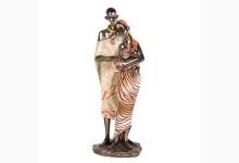 Dekofigur afrikanisches Paar mit Baby
