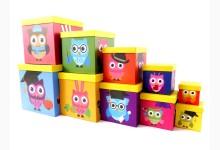 10er Set Geschenkboxen  - Aufbewahrungsboxen Mod.D013 Eule Motiv