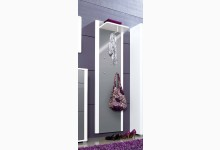 Wandgarderobe - Garderobenpaneel Mod.G160_2 Weiss Grau Hochglanz