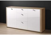 Sideboard Mod.K577 Sonoma Eiche Weiss Hochglanz