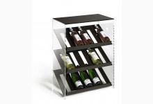Design Weinregal Mod.R487_B Braun Acrylglas