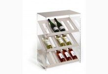 Design Weinregal Mod.R487_BE Beige Acrylglas