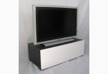 TV Ablage - Lowboard Mod.TV666 Schwarz Weiss