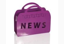 Zeitungsständer Metall hochglanz Violett SO222_V