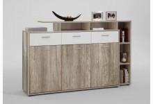 Sideboard - Kommode K597_2 Wildeiche Weiss
