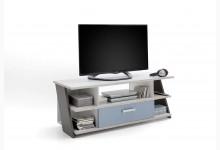 TV-Ablage Lowboard Mod.F814-005 Sandeiche Weiß Lava