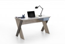 Schreibtisch Mod.F814-006 Sandeiche Weiß Lava