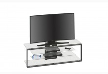TV-Rack Mod.MJ094 Metall Anthrazit - Klarglas