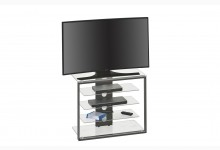 TV-Rack Mod.MJ096 Metall Anthrazit - Klarglas