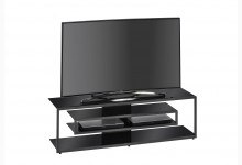 TV-Rack Mod.MJ101 Metall Anthrazit - Schwarzglas