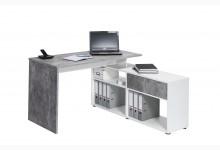 Schreibtisch Mod.MJ105 Betonoptik - Icy-Weiß
