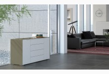 Sideboard Mod.MJ154 Sandglas - Weißglas
