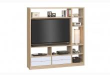 Raumteiler mit Cableboard Mod.MJ161 Sonoma Eiche - Weiß
