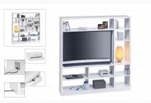 Raumteiler mit Cableboard Mod.MJ162 Weiß