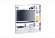Raumteiler mit Cableboard Mod.MJ163 Weiß
