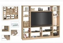 Raumteiler mit Cableboard Mod.MJ164 Sonoma Eiche