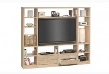 Raumteiler mit Cableboard Mod.MJ165 Sonoma Eiche
