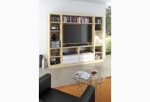 Raumteiler mit Cableboard Mod.MJ166 Sonoma Eiche - Weiß