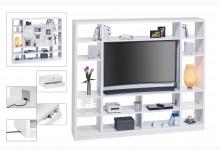 Raumteiler mit Cableboard Mod.MJ167 Weiß