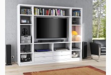 Raumteiler mit Cableboard Mod.MJ168 Weiß