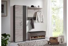 3tlg. Garderoben-Set Mod.F488-456 Sandeiche Lava