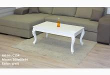 Couchtisch Mod.ET015-100 Weiß Hochglanz