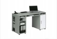 Schreibtisch / Computertisch Mod.MJ219 Platingrau - Icy Weiß