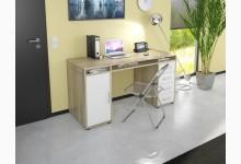 Schreibtisch / Computertisch Mod.MJ220 Sonoma Eiche - Icy Weiß