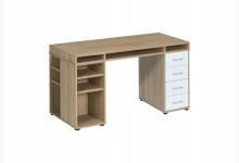 Schreibtisch / Computertisch Mod.MJ225 Sonoma Eiche - Icy Weiß