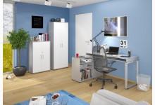 Arbeitszimmerset / Büroset Mod.MJ249 Platingrau - Icy Weiß