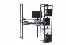 Eck-Schreibtischkombination / Computertisch Mod.MJ259 Anthazit - Platingrau